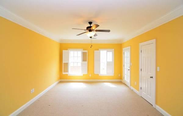 lving room yellow white